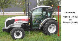 Cabine spéciale CAB pour tracteur CARRARO FB 2 hauteurs