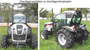 Cabine spéciale CAB pour tracteur CARRARO FB chauffage ventilation ou climatisation