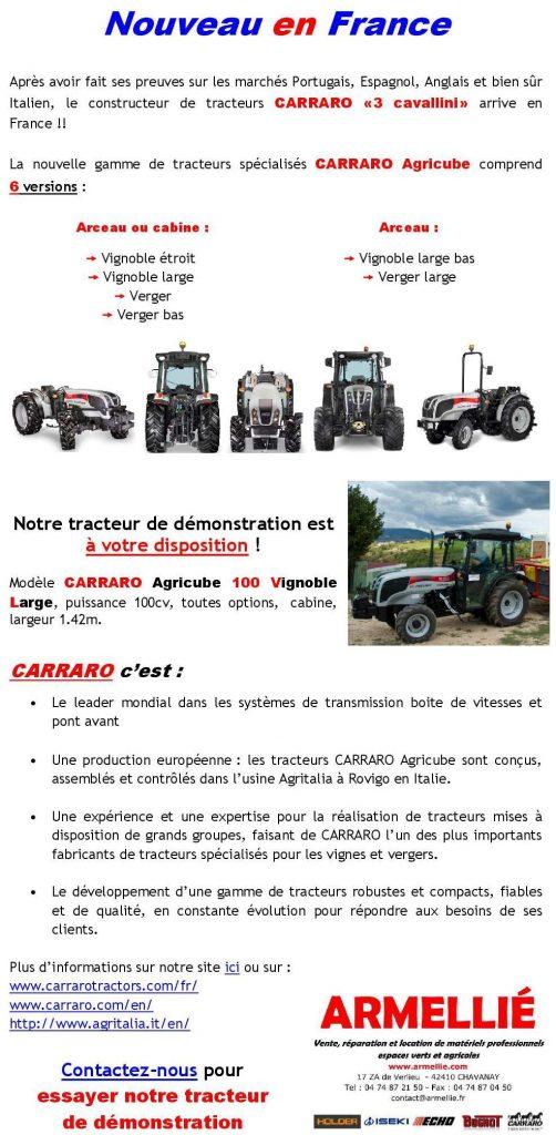 Article : Présentation de CARRARO Agricube