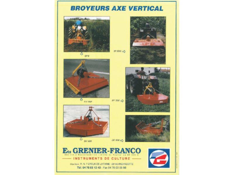 Matériel GRENIER FRANCO détails